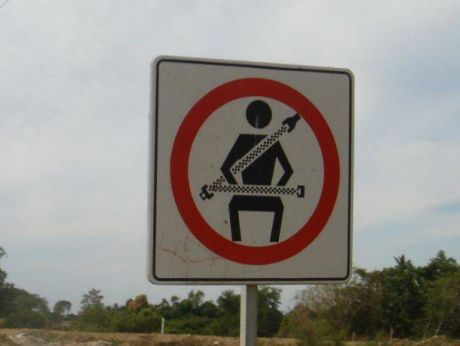 Prohibition sign in Mexico