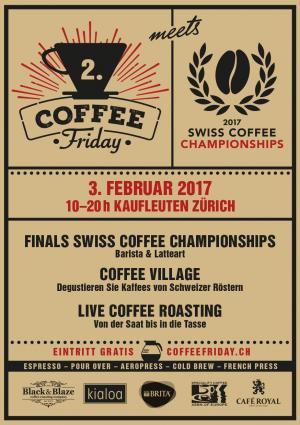 Coffee Friday und Barista-Schweizermeisterschaft: Diesen Freitag, 3. Februar im Kaufleuten
