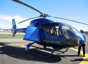 Helikopter-Flug ab Zürich-Kloten zum Selbstkostenpreis